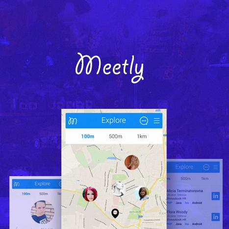 Дизайн приложения для ios и android. Meetly