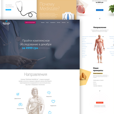 Medistate site design